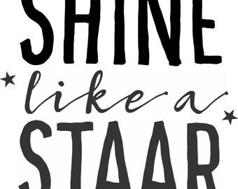 Staar Texas Glitter/Matte Shirt Shine like a Staar Teacher Shirt