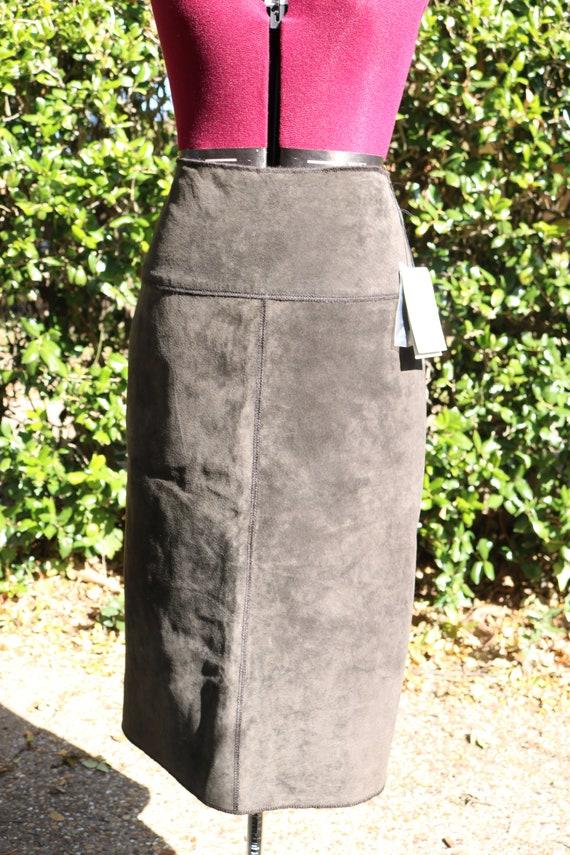 Etcetera brown suede skirt