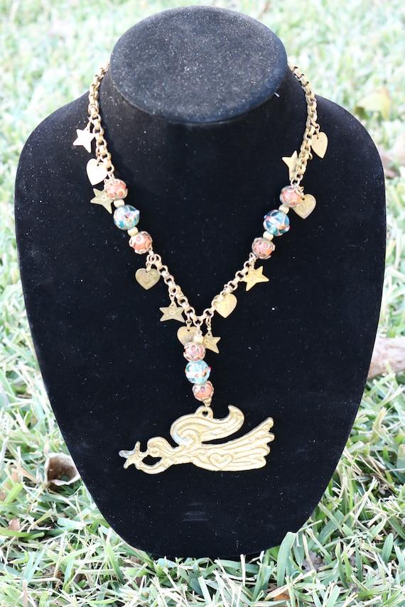 Bohemian angel necklace
