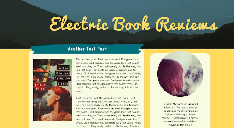 Electric Blog Template For Bloggers on Blogspot Yellows and image 0