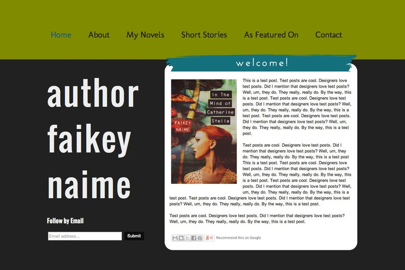 Tutti Blog/Website Template For Authors & Writers on image 0