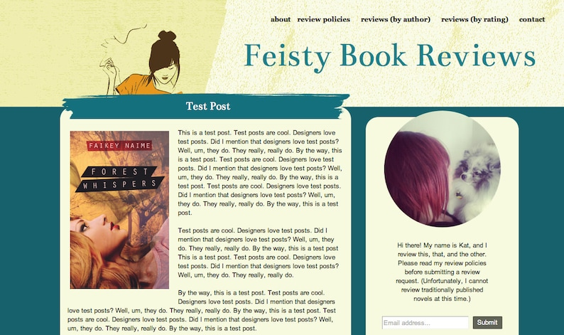 Feisty Blog Template For Book Bloggers/Reviewers on Blogspot image 0
