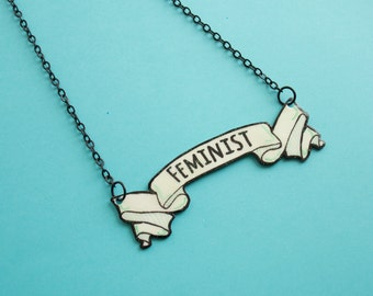 Feminist Banner Necklace