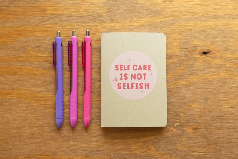 Self Care is Not Selfish  Mini Pocket Sketch Book  Blank image 0