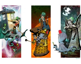 Timelord Triptych - various sizes