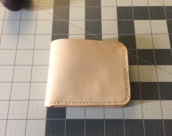 Natural Veg tan wallet