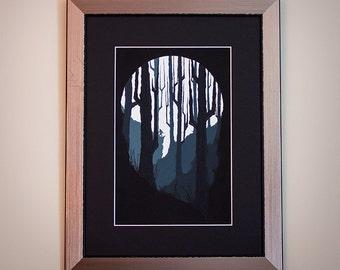 Personas - serigrafía edición limitada del bosque
