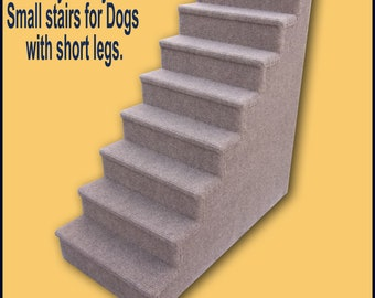 Dog Steps, Small to Medium Dogs. Eight steps, Dogs with short legs. 30 High x 15 Wide x  30 Deep, Pet Steps for small Dogs.