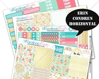 Summer Blossom Planner Kit 200+ diecut stickers / for Erin Condren Stickers / Life Planner Sticker / Weekly Sticker Kit #SQ00234-ECH