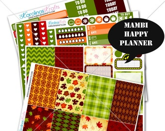 Fall Stickers Fall Planner Kit 200+ Happy Planner Stickers, Mambi Planner Sticker kit, Weekly Planner Kit, Fall Stickers #SQ00220-MHP