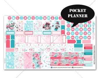 Winter Planner Stickers MONTHLY Planner Kit, Pocket Planner Stickers, Sew Much Crafting, Monthly Sticker Kit #SQ00766-Pocket