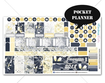 Celebration Planner Stickers MONTHLY Planner Kit, Pocket Planner Sticker, Sew Much Crafting, Monthly Kit, New Years #SQ00428-Pocket