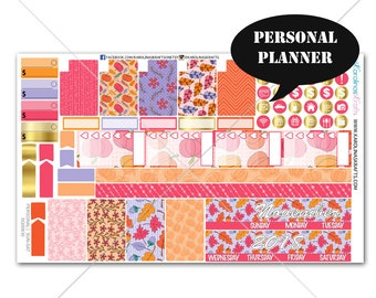 FALL Planner Stickers MONTHLY Planner Kit, Sew Much Crafting Stickers, Monthly Sticker Kit, Personal Planner Kit #SQ00630-Personal