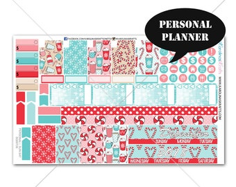 Peppermint Planner Stickers MONTHLY Planner Kit, Sew Much Crafting Stickers, Monthly Sticker Kit, Personal Planner Kit #SQ00726-Personal