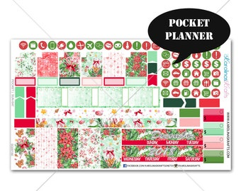 Winter Planner Stickers MONTHLY Planner Kit, Pocket Planner Sticker, Sew Much Crafting, Monthly Kit, Christmas Stickers #SQ00186-Pocket