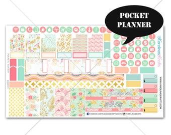 Summer Blossom MONTHLY Planner Kit, Pocket Planner Sticker Kit, Itty Bitty Planner Sticker, Sew Much Crafting Sticker #SQ00373pocket