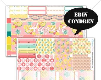 Pineapple MONTHLY Planner Kit / for Erin Condren Stickers / Life Planner Sticker / Monthly Sticker Kit #SQ00286-EC