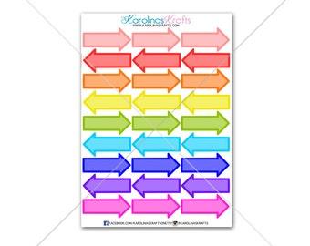 36 Arrow Stickers Stickers! Perfect for your Erin Condren Life Planner, Filofax Sticker/Functional Planner Sticker! #SQ00281 RAINBOW