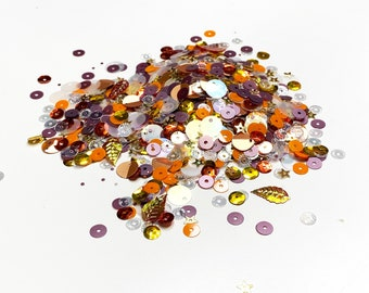 """Sequin Mix  """"Autumn Please"""", Shaker Confetti Mix for Crafting and Scrapbooking, Sequin Confetti Mix"""