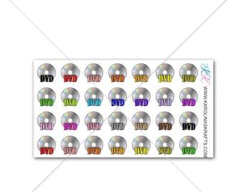 Itty Bitty DVD Stickers! Itty Bitty Planner Stickers, Movie Stickers, Sew Much Crafting Stickers, Personal Planner  #SQ00557
