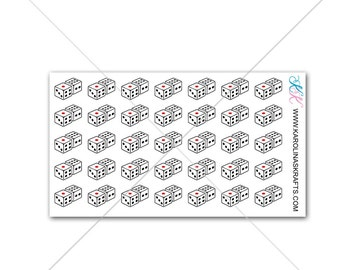 Itty Bitty Dice Vegas Planner Stickers! Itty Bitty Planner Stickers, Gambling Stickers, Small Stickers, Tiny Dice Stickers #SQ00619
