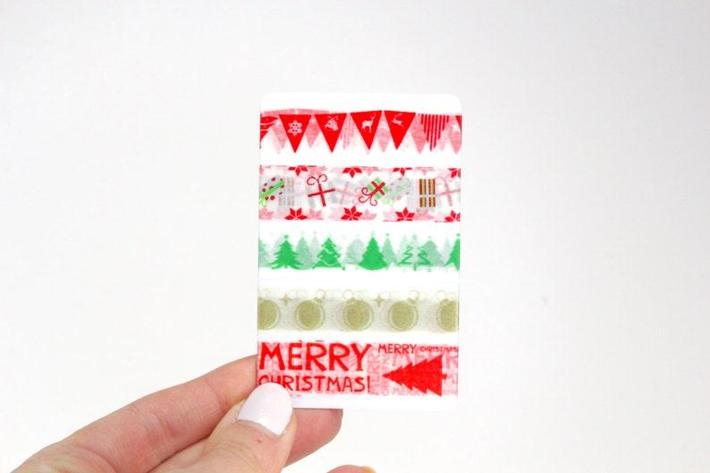 Christmas Planner Washi Sampler 5 Christmas Washi Samples for image 0