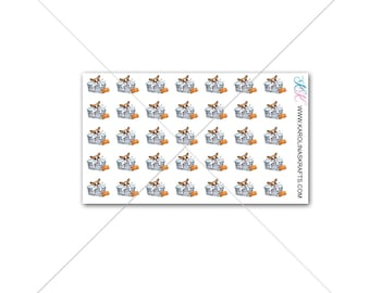 Itty Bitty Dog Groomer or Dog Stickers! Itty Bitty Planner Stickers, Sew Much Crafting Stickers  #SQ00647
