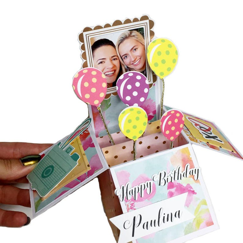 Handmade PERSONALIZED CUSTOM Pop Up Box Card