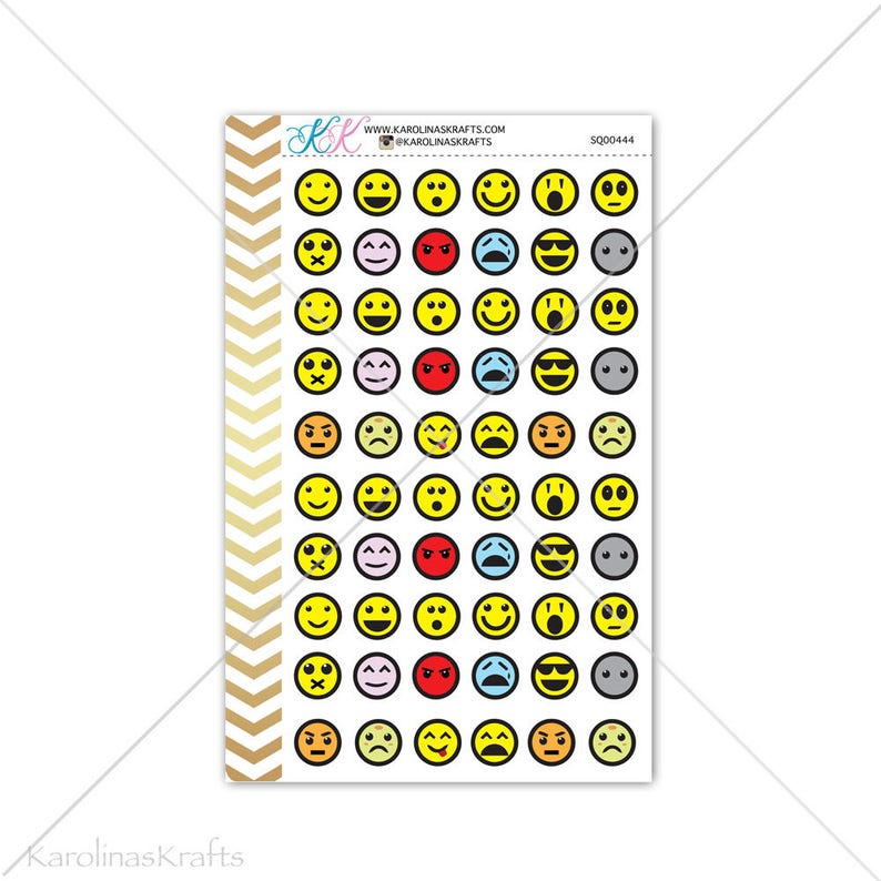 Smiley Faces Stickers for planner calendar Functional image 0