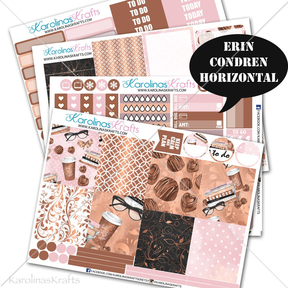 Coffee Shop Stickers Bakery Planner Kit Coffee Stickers