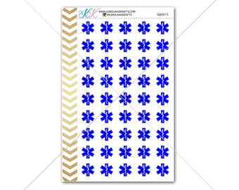 EMT star of life Stickers for planner, calendar! Functional planner stickers medical sticker functional sticker doctor sticker #SQ00015