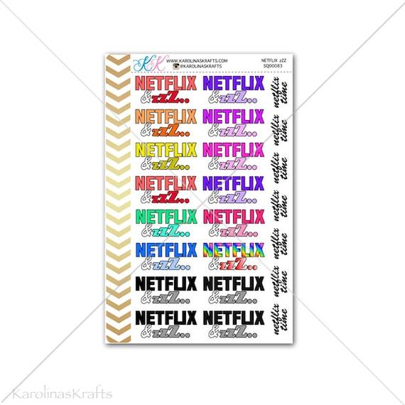 Netflix financial stickers sheets,Planner Agenda sticker Calendar