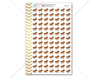 Horses Stickers for planner, calendar! Functional planner stickers animal sticker functional sticker farm animal sticker #SQ00097