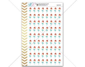Redhead Ballerina Stickers for planner, calendar! Functional planner stickers ballet sticker functional stickers dancer sticker #SQ00504