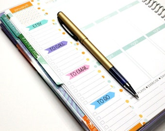 Custom Full Checklist stickers to use as a sidebar for tasks throughout the week for Erin Condren Life Planner, Sidebar sticker #SQ00157