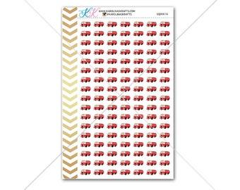 Firetruck Stickers for planner, calendar! Functional planner stickers work sticker functional sticker Firefighter stickers fireman #SQ00616