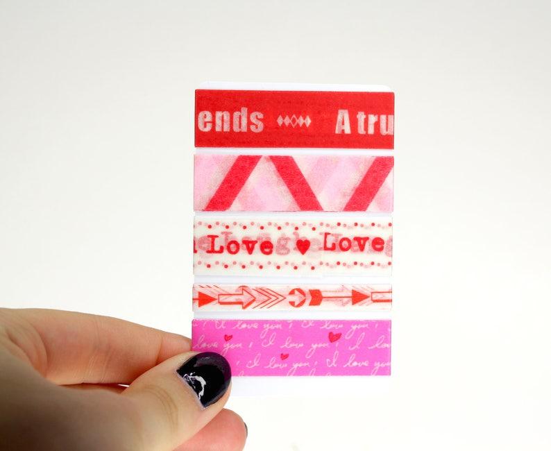 Love Washi Sampler Set 5 Valentines Day Washi Samples for image 0