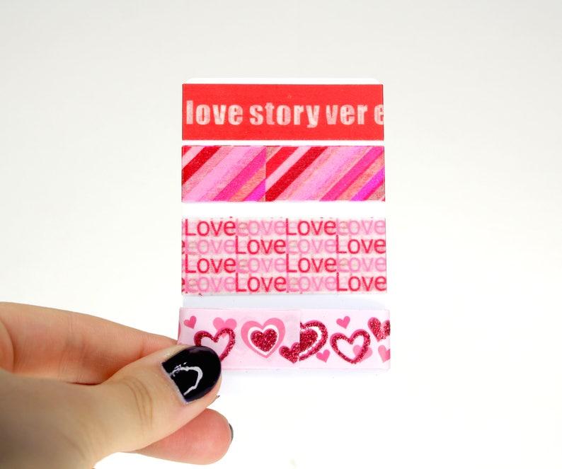 Love Washi Sampler Set 4 Valentines Day Washi Samples for image 0