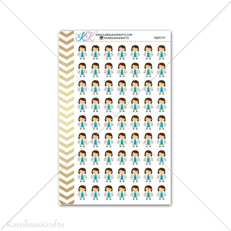 Girl Dentist Stickers for planner calendar Functional image 0