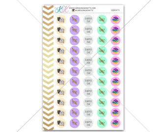 School Task Circle Stickers for planner, calendar! Functional planner stickers school sticker functional sticker student sticker #SQ00473