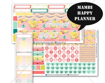 Pineapple MONTHLY Planner Kit / Happy Planner Stickers / Mambi Stickers / Monthly Sticker Kit #SQ00286-MHP