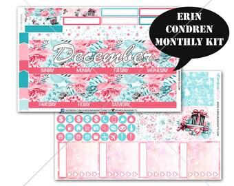 Winter Stickers MONTHLY Planner Kit, for Erin Condren Stickers, Life Planner Sticker, Monthly Sticker Kit, December planner #SQ00766-EC