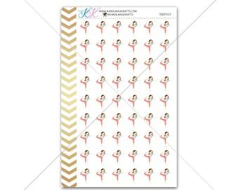 Yoga Girl Stickers for planner, calendar! Functional planner stickers fitness sticker functional sticker sport sticker #SQ00522