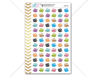 Video Camera Stickers Electronic sticker for planner, agenda, calendar! Functional planner stickers to help organize your life #SQ00469