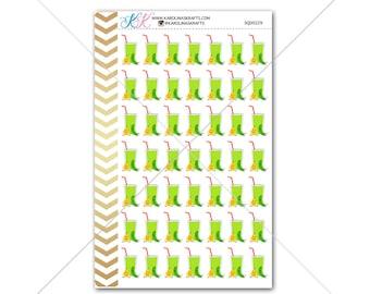 Green Juice/Smoothie Stickers for planner, calendar! Functional planner stickers diet sticker functional sticker drink sticker #SQ00229