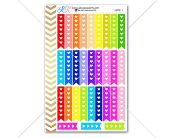 Heart Checklist Stickers for planner, calendar! Functional planner stickers to do list stickers functional sticker #SQ00013
