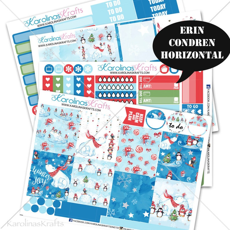 Winter Stickers Winter Planner Kit 200 Holiday Planner image 0
