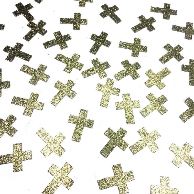 50 pcs Table Confetti Cross Confetti First Holy Communion image 0