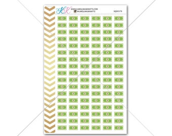 Dollar Bill Stickers for planner, calendar! Functional planner stickers money sticker functional sticker budget sticker #SQ00379