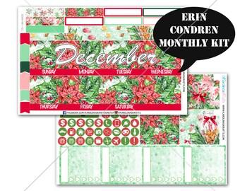 CHRISTMAS Stickers MONTHLY Planner Kit, for Erin Condren Planner, Life Planner Sticker, Monthly Sticker Kit, December planner #SQ00186-Ec